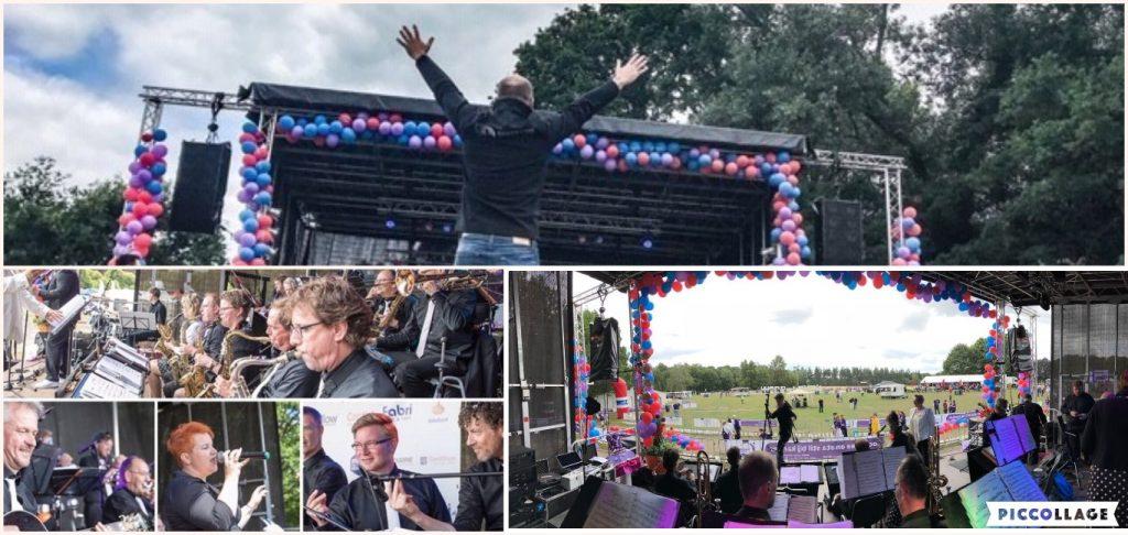 Collage van het optreden op samenloop voor hoop, 2018